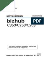 Konica Minolta Develop Biz Hub BizHub Ineo +203 Bh c353.c253.c203 Field Ser Man
