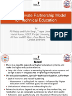 Public-Private Partnership Model for Technical Education