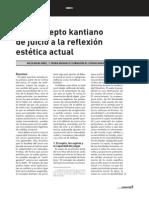Bueno Gómez, Noelia - Del concepto kantiano de juicio a la reflexión estética actual