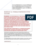Module 16. Female Reproductive System