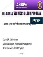 Blood Systems - Information Management