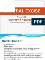 CENTRAL EXCISE by Prof Pravin Mahamuni