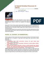 Menyingkap Tabir Sejarah Peristiwa Penurunan Al-quran