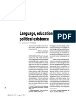Language Education and Political Existence