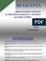 Contabilitatea şi analiza veniturilor şi reflectarea acestora