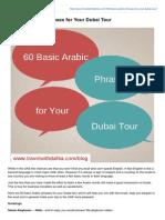 60 Basic Arabic Phrases for Your Dubai Tour