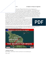 Fate of Malaysian Plane MH 370