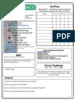 Homework Sheet-Term1 Week7