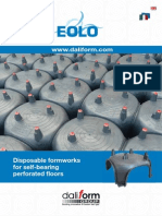 Eolo - Disposable formworks for self-bearing perforated floors