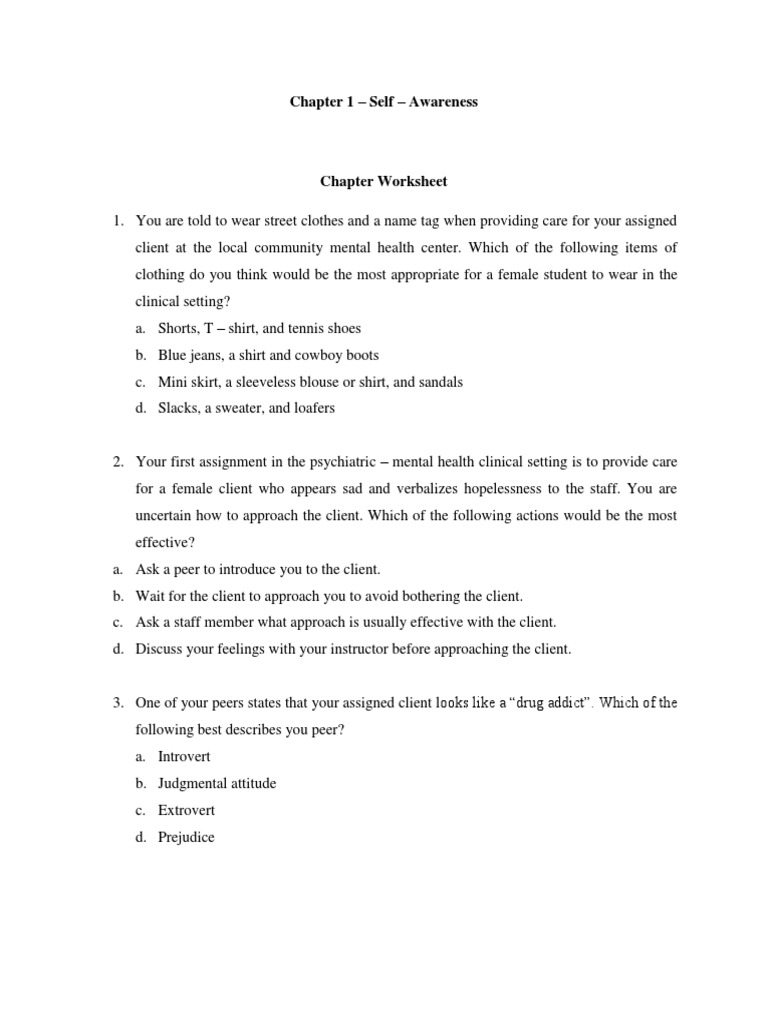 Videbeck psychiatric mental health nursing Chapter work sheet – Dual Diagnosis Worksheets