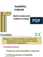 Feasibility Analysis, Whitten Ch. 9