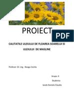 Calitatile Uleiului de Floarea-soarelui Si Masline