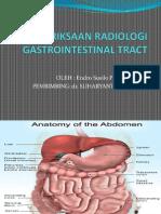 Pemeriksaan Radiologi Gastrointestinal Tract