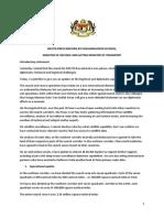 MH370 Press Statement by Hishammuddin Hussein 18.3.14