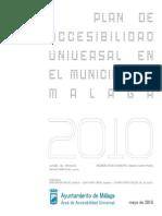 Ayto Malaga - Plan de Accesibilidad Municipal - 2010