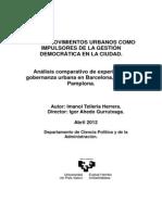 LOS MOVIMIENTOS URBANOS COMO IMPULSORES DE LA GESTIÓN DEMOCRÁTICA EN LA CIUDAD