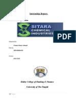 Intership Report on Sitara Chemical