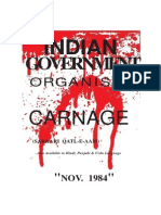 1984 - Indian Government Organized Carnage