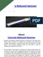 Concrete Rebound Hammer