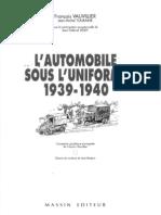 [Massin] L'Automobile Sous l'Uniforme 1939-1940