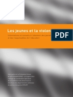 Brochure «Les jeunes et la violence»