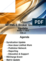 Broker Quarterly Update March 2014