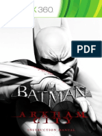Batman - Arkham City - XBox 360 Manual