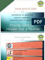 Ammonia and Its Salts - Hisyam See