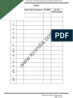Microprocessor Lab Manual