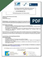 Bourse Stipendien CFDA 2014