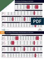 205 Timetable