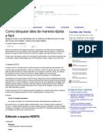 INFORMATICA - Como bloquear sites de maneira rápida e fácil (Matérias).pdf