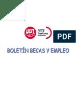 Boletín de becas y empleo. Semana del 17 de marzo de 2014