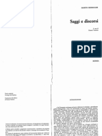 Heidegger - Saggi e Discorsi