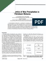 Thermodynamics of Wax Precipitation in Petroleum Mixtures
