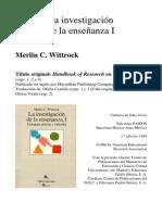 MERLIN C. WITTROCK investigacion de la enseñanza