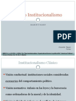 Nuevo Institucionalismo March y Olsen