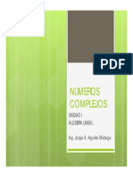 Diapositivas Numeros complejos