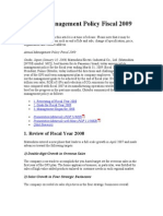 Annual Management Policy Fiscal 2009 (1)