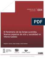 El fenómeno de las lonjas y locales juveniles en Vitoria-Gasteiz