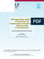 """2º Curso a distancia """"Hidrogeología Aplicada a Proyectos de Cooperación Internacional al Desarrollo y Emergencias"""""""