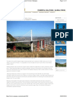 Millau - Lifting Temporary Support Towers