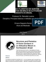 Estrutura e florística de quintais agroflorestais em brejo