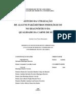 ESTUDO UTILIZAÇÃO PARÂMETROS FISIOLÓGICOS QUALIDADE CARNE SUÍNO PhD thesis 2004 PORK MEAT QUALITY PHYSIOLOGICAL PARAMETERS STRESS