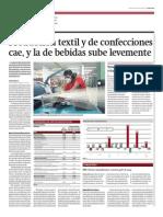 Producción textil y de confecciones cae y bebidas sube_Gestión 18-03-2014