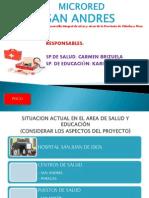 Presentacion de Informe de Microred Anual. Carmen Brizuela