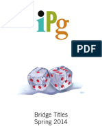 IPG Spring 2014 Bridge Titles