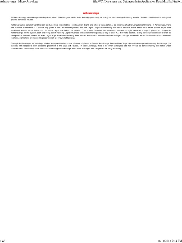 What Is Gochar In Vedic Astrology