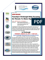 News Release -- Firebaugh Water Rally