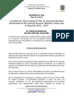 _Planes Desarrollo_Capitales_SAN JOSE DEL GUAVIARE 2012_2015